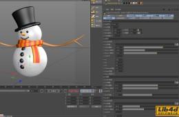 C4D魔法雪人预设插件汉化版 magic snow man