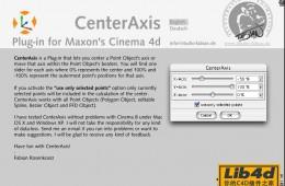 C4D中心轴定位插件 CenterAxis