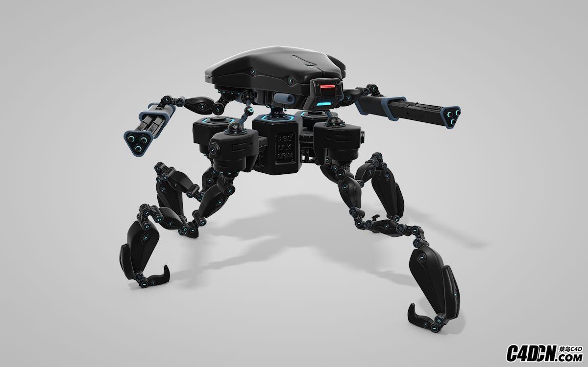 C4D战争机器人绑定预设汉化版